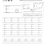 Letter E Writing Practice Worksheet - Free Kindergarten throughout Letter E Tracing Worksheets
