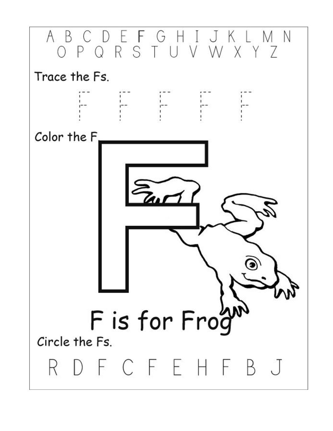 Letter F Worksheets For Preschool Worksheets For All for Tracing Letter F Worksheets Preschool