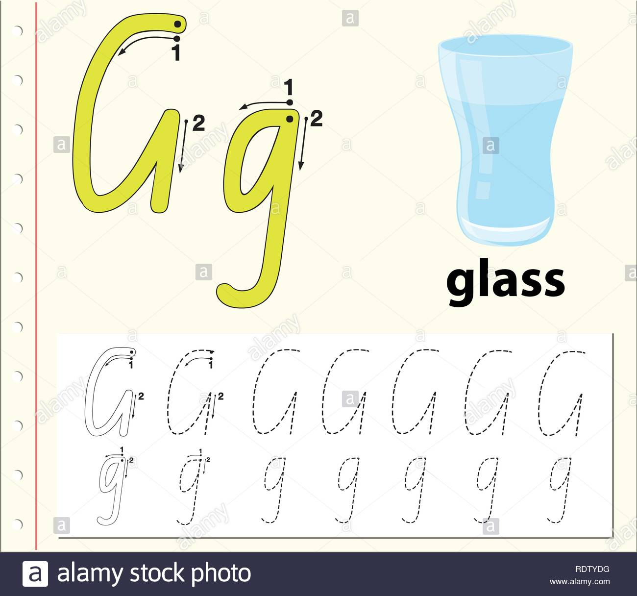Letter G Tracing Alphabet Worksheets Illustration Stock inside Tracing Letters Software