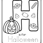 Letter H Is For Halloween Trace And Color Printable Free in Halloween Tracing Letters