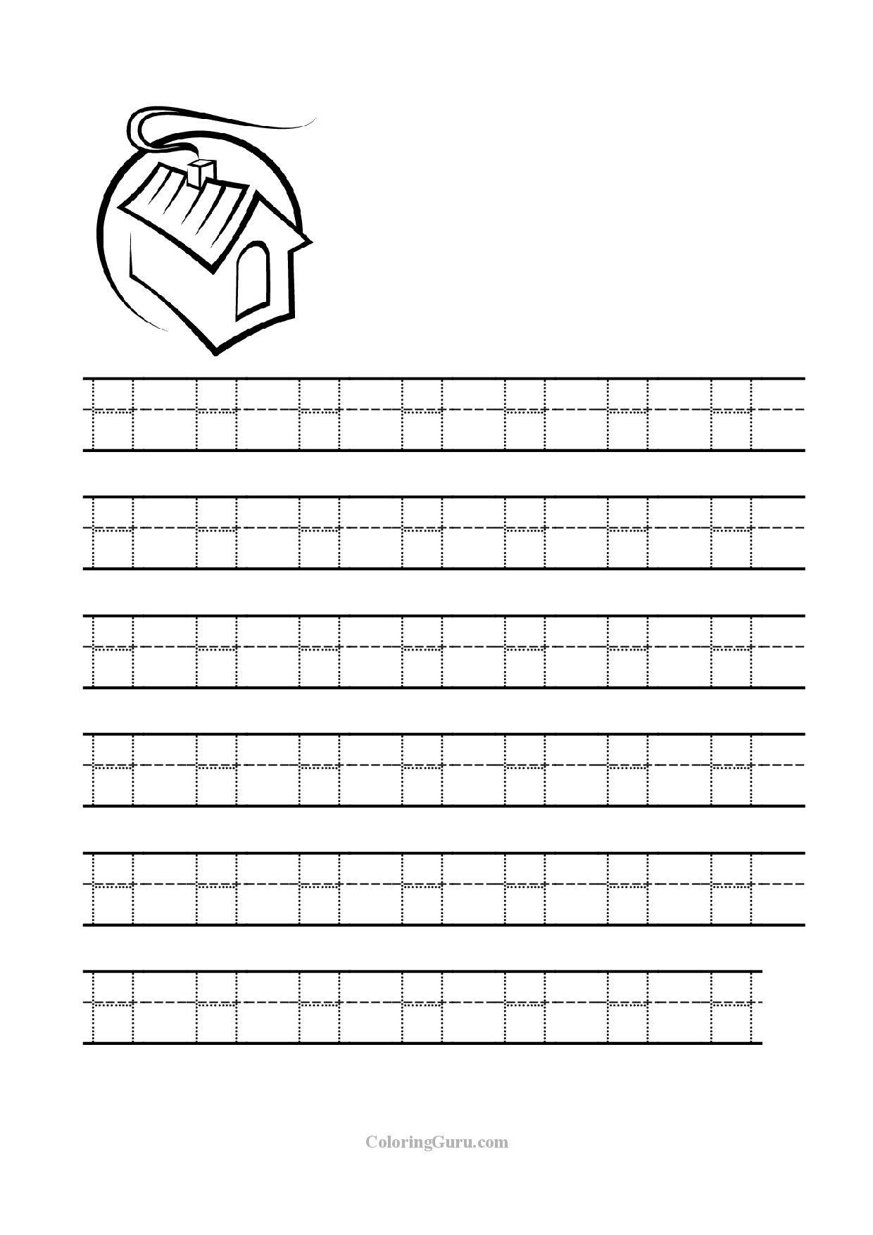 Letter H Tracing Worksheets Worksheets For All | Tracing with Tracing Letter H Worksheets