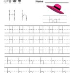 Letter H Writing Practice Worksheet - Free Kindergarten within Free Tracing Letter H Worksheets
