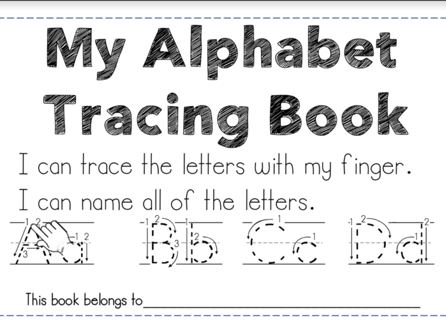 Letter Identification And A Free Resource | Maggie's Kinder inside Tracing Letters Booklet