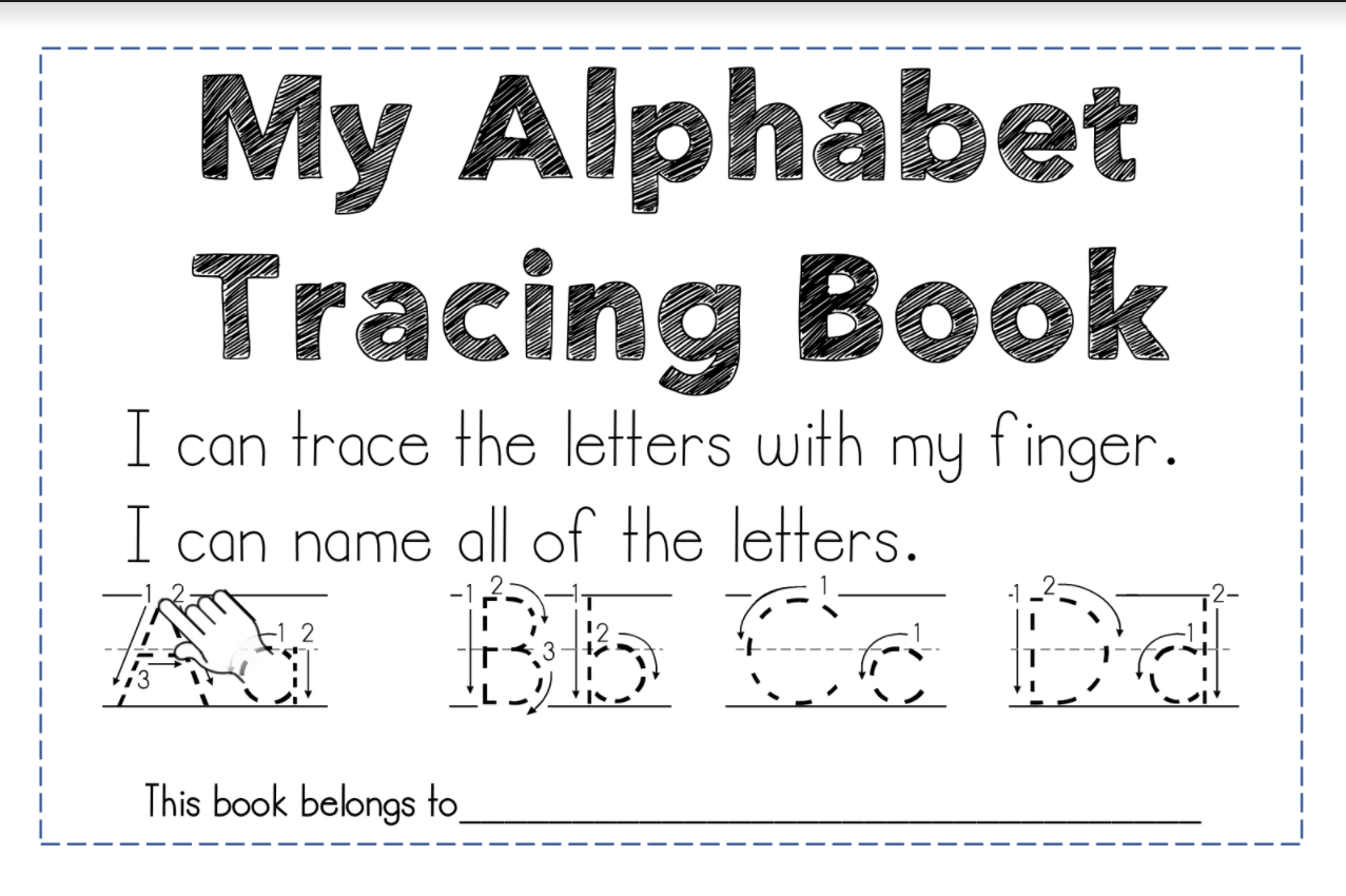 Letter Identification And A Free Resource | Maggie's Kinder with Finger Tracing Alphabet Letters