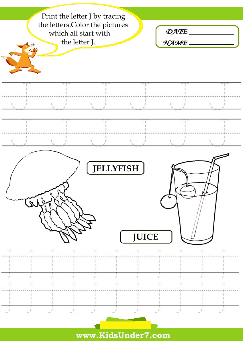 Letter J Worksheets Sb440. Letter J Writing Worksheet Big with regard to Alphabet Parade Tracing Letters