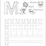Letter M. Learn Handwriting. — Stock Vector with Tracing Letter M Worksheets