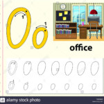 Letter O Tracing Alphabet Worksheets Illustration Stock within Tracing Letters Software