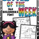 Letter Of The Week Worksheets Qld Beginners Font | Letter pertaining to Qld Font Tracing Letters