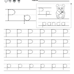 Letter P Writing Practice Worksheet - Free Kindergarten with Tracing Letter P Worksheets