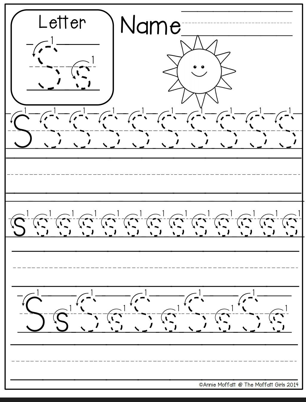 Letter S Worksheet | Preschool Writing, Letter S Worksheets pertaining to Tracing Letters S