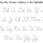 Letter Trace Worksheet | Cursive Letters, Cursive Alphabet regarding Calligraphy Letters Tracing