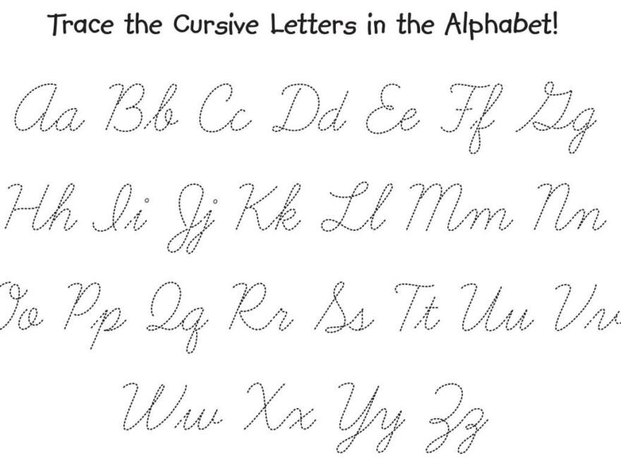 Letter Trace Worksheet | Cursive Letters, Cursive Alphabet throughout Printable Tracing Cursive Letters