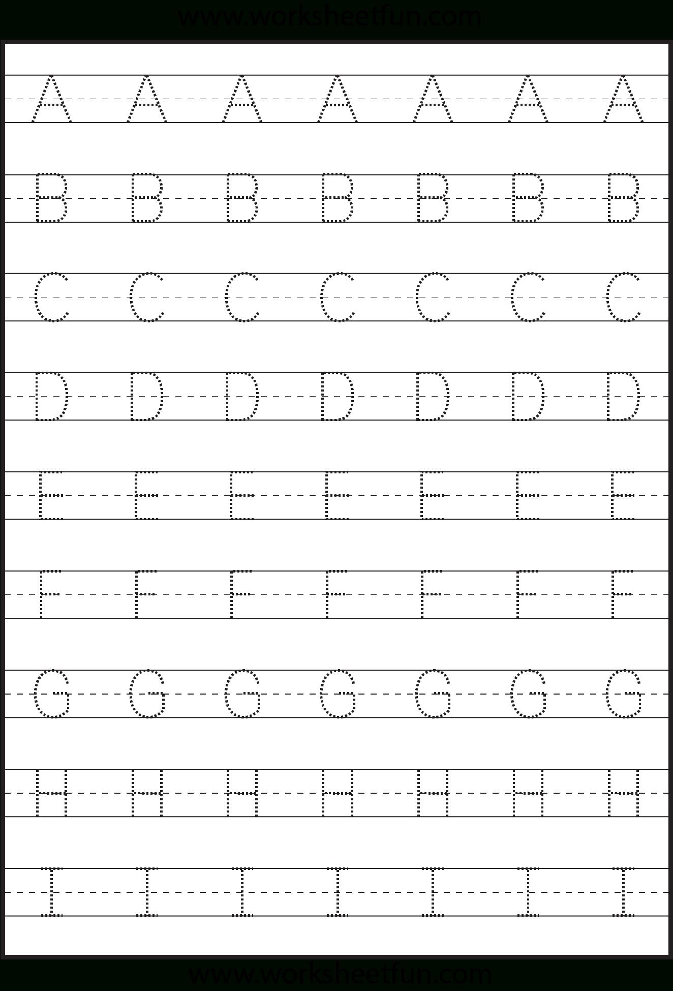Letter Tracing - 3 Worksheets | Kids Math Worksheets in Tracing Letters Worksheets For Kindergarten