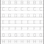Letter Tracing Sheets Printable | Kids Math Worksheets with Preschool Tracing Letters And Numbers