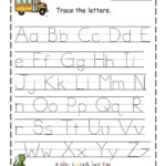 Letter Tracing Template - Wpa.wpart.co inside Free Printable Alphabet Tracing Letters