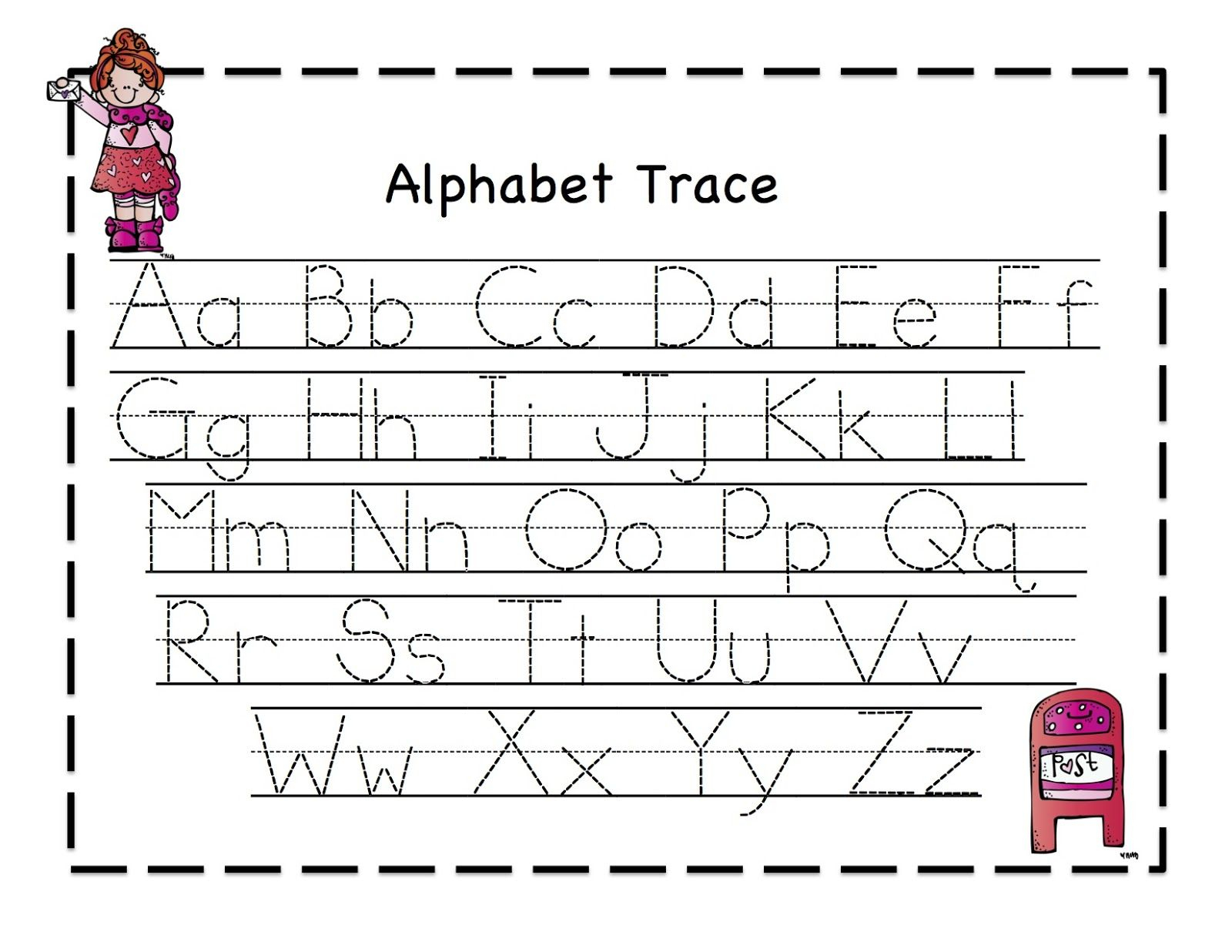 Letter Tracing Template - Wpa.wpart.co with Tracing Alphabet Letters