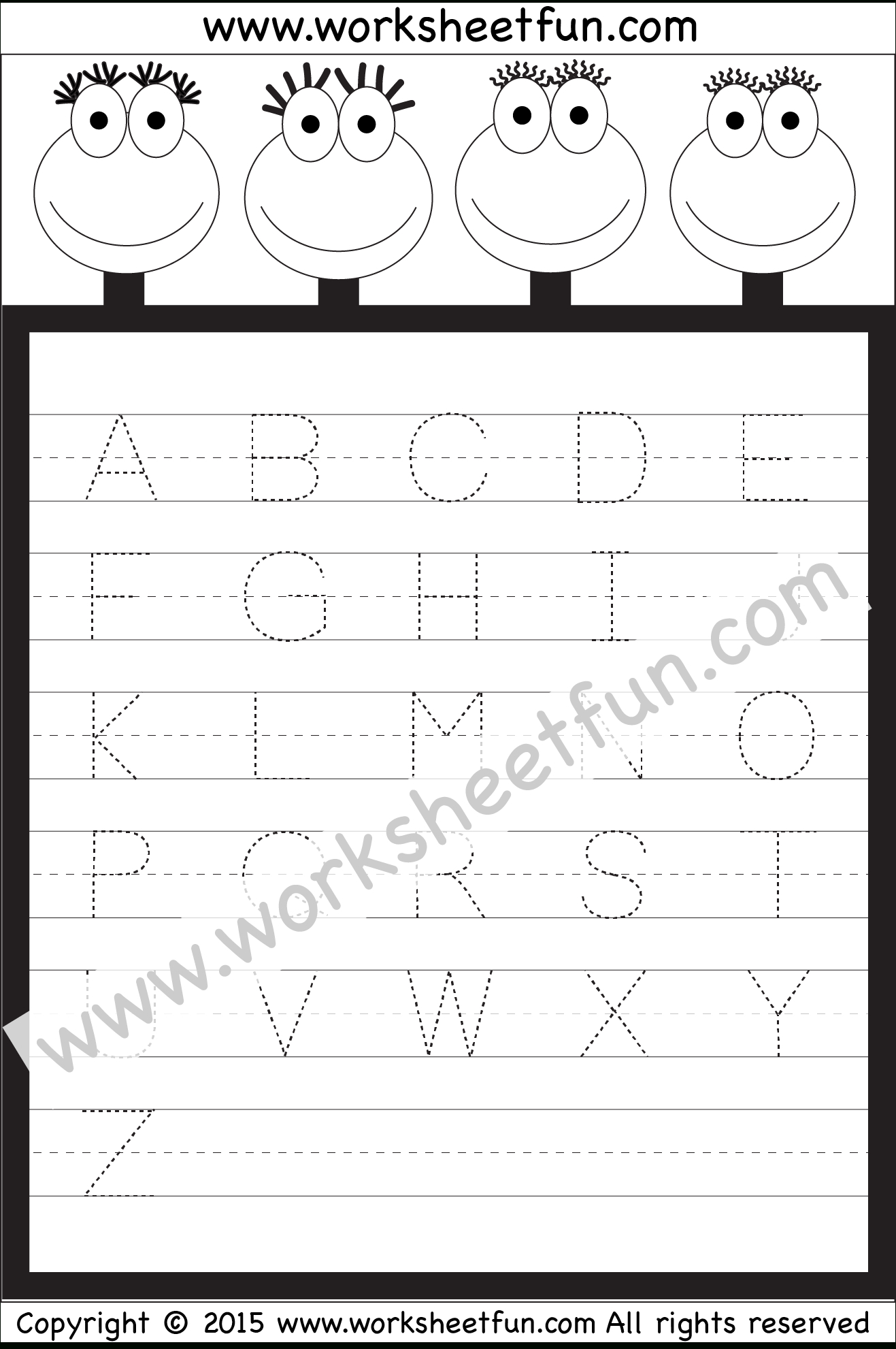 Letter Tracing Worksheet – Capital Letters / Free Printable in Tracing Uppercase Letters Pdf