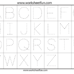 Letter Tracing Worksheets For Kindergarten - Capital Letters inside Tracing Uppercase Letters Printable Worksheets