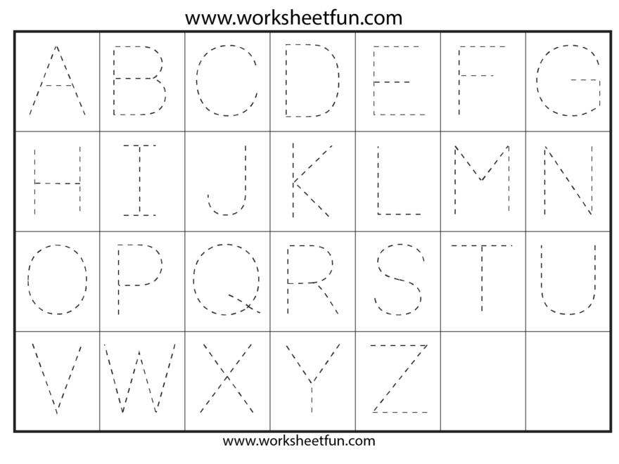 Letter Tracing Worksheets For Kindergarten - Capital Letters intended for Capital Letters Tracing Sheets
