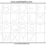 Letter Tracing Worksheets For Kindergarten - Capital Letters pertaining to Capital Letters Alphabet Tracing Sheets