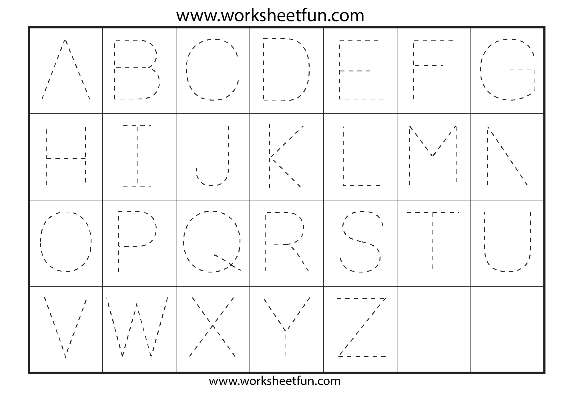 Letter Tracing Worksheets For Kindergarten - Capital Letters regarding Big Letters Alphabet Tracing Sheets