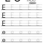 Letter Tracing Worksheets Letters A J | Letter Tracing inside Tracing Letter E Worksheets