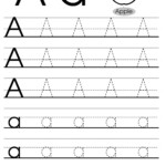 Letter Tracing Worksheets (Letters A - J) with regard to Tracing Over Letters Worksheets