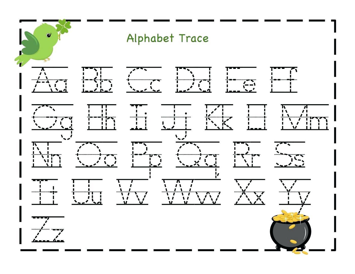 Letter Tracing Worksheets Uppercase And Lowercase Letters intended for Tracing Letter I Worksheets For Kindergarten