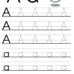 Letter Tracing Worksheets Uppercase And Lowercase Letters regarding Trace Letter A Worksheets Free