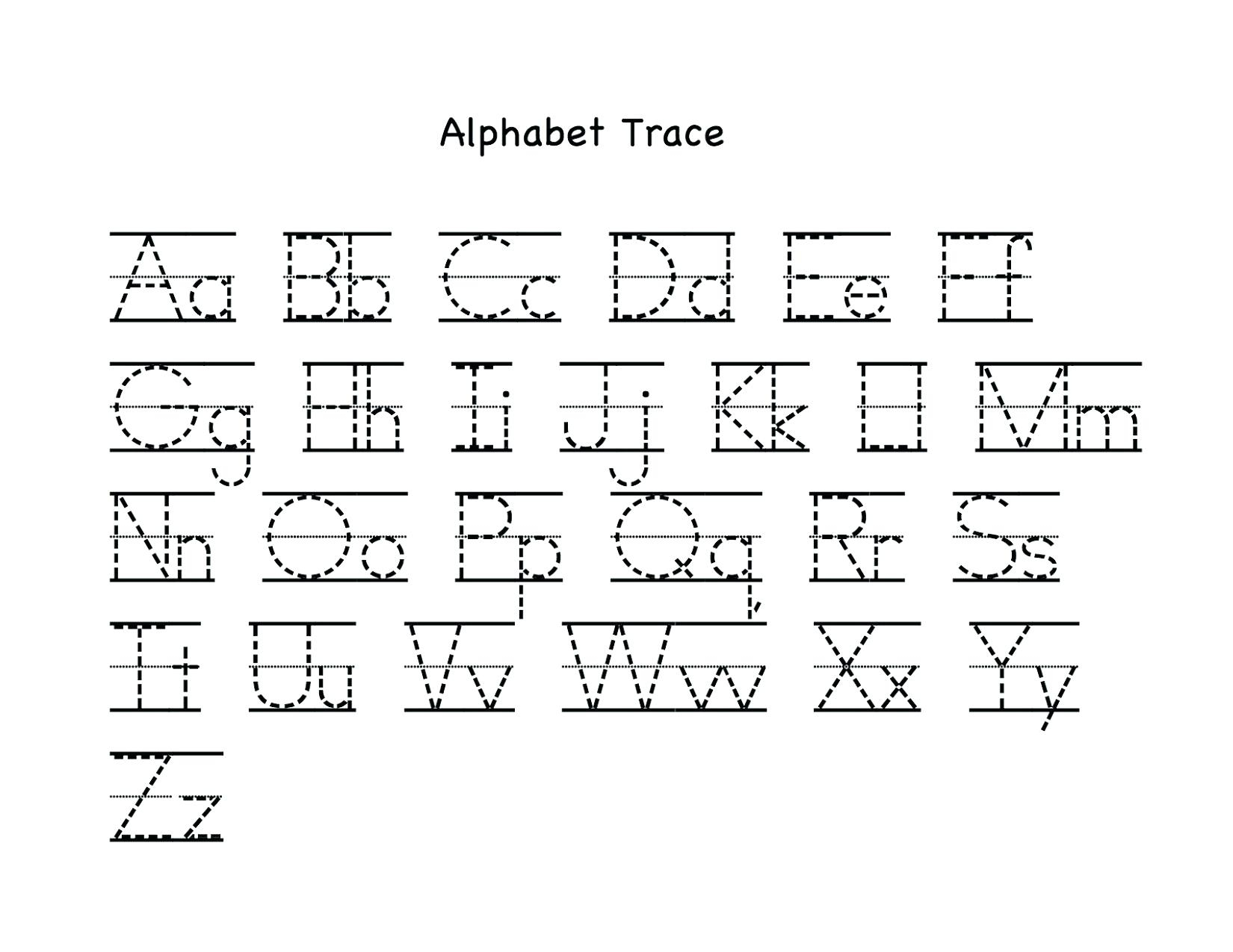 Letter Tracing Worksheets Uppercase And Lowercase Letters with regard to Tracing Alphabet Letters For Kindergarten