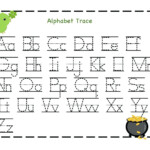 Letter Tracing Worksheets Uppercase And Lowercase Letters within Uppercase And Lowercase Letters Tracing Worksheet