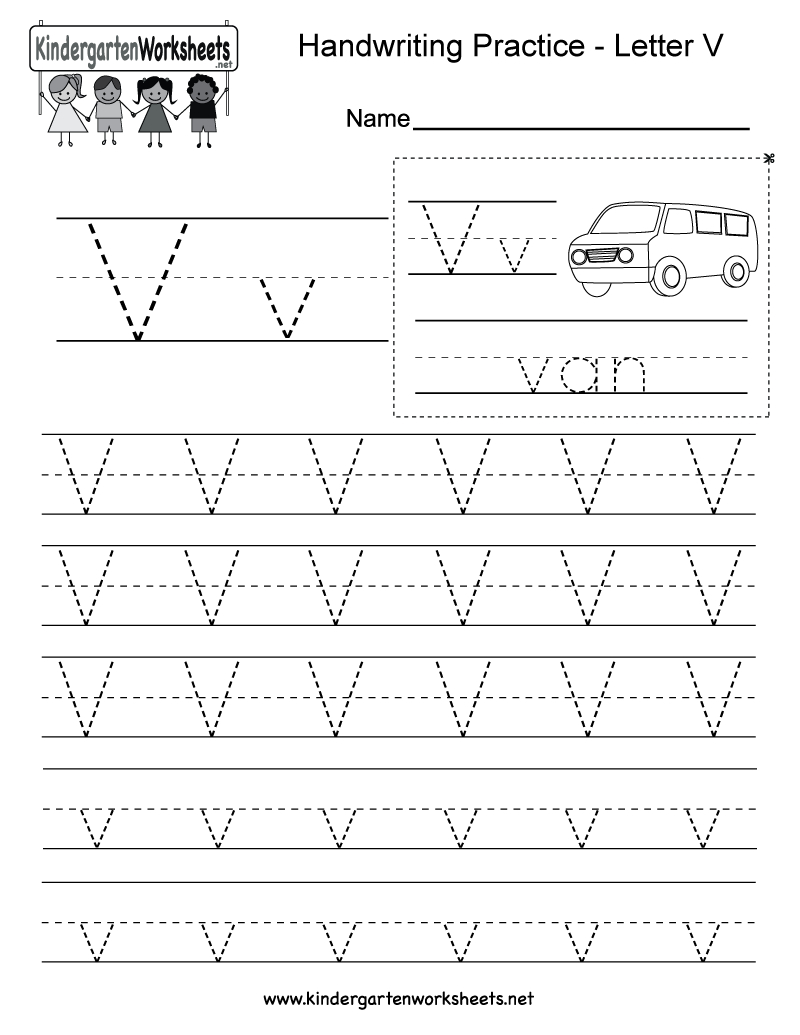 Letter V Handwriting Worksheet For Kindergarteners. You Can throughout Tracing Alphabet Letters Online