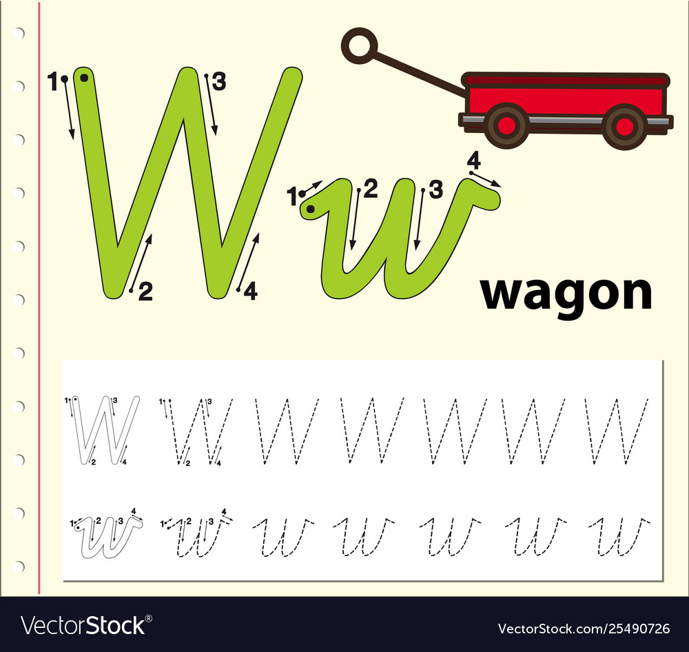 Letter W Tracing Alphabet Worksheets in Tracing Letter W Worksheets