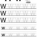 Letter W Tracing Worksheet, English Alphabet Worksheets within Tracing Letter W Worksheets