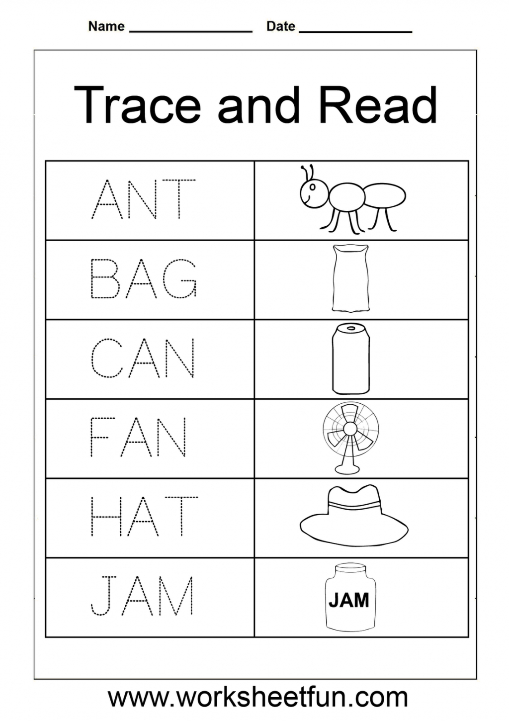 Letter Words Worksheets For En And With V Two In The Middle for Tracing Letters Words Worksheets