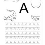 Letter Worksheets For Kindergarten Printable | Tracing throughout Tracing Letter A Worksheets Printable