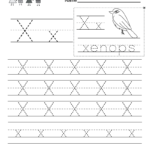 Letter X Writing Practice Worksheet - Free Kindergarten regarding Tracing Letter X Worksheets