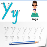 Letter Y Tracing Alphabet Worksheets throughout Tracing Letter Y Worksheets