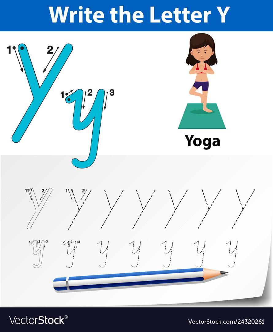 Letter Y Tracing Alphabet Worksheets throughout Tracing Letter Y Worksheets