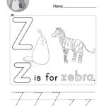 Letter Z Alphabet Activity Worksheet - Doozy Moo regarding Tracing Letter Z Worksheets
