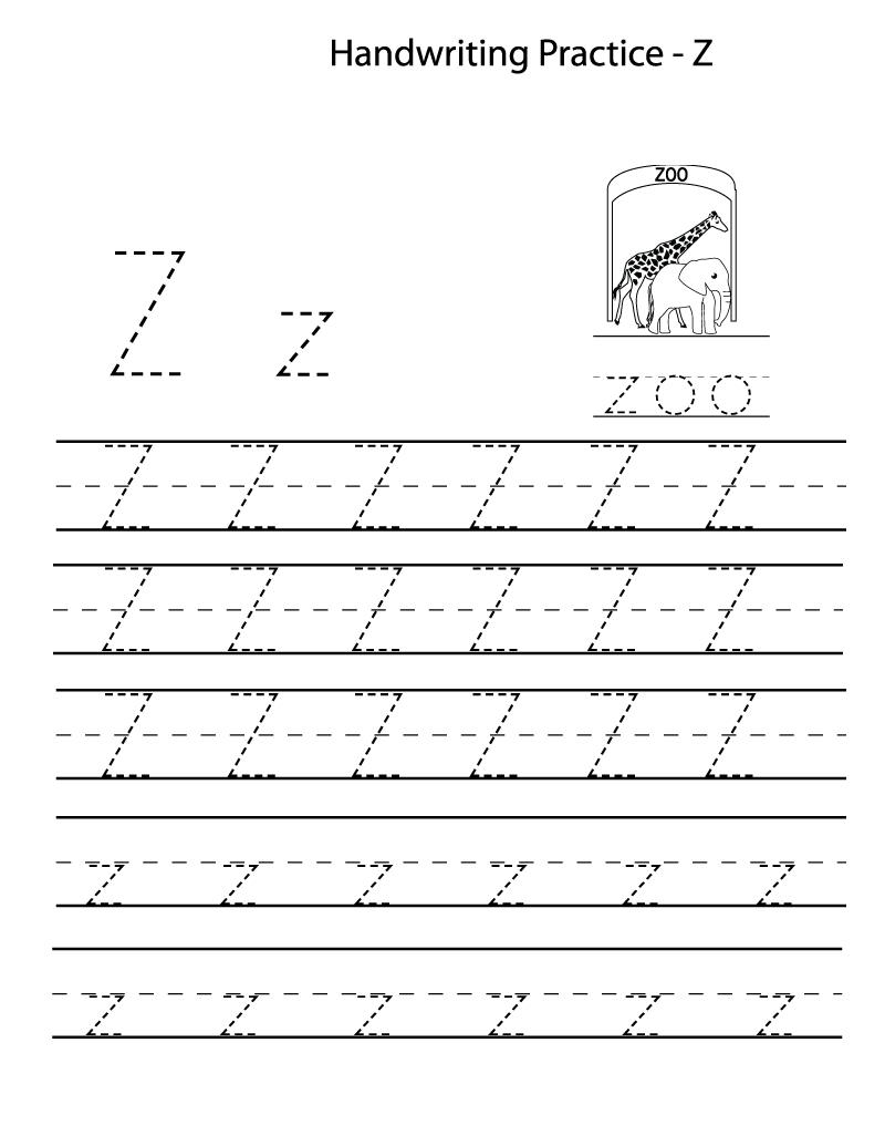 Letter Z Kindergarten Worksheets Simple | Loving Printable in Tracing Letter Z Worksheets