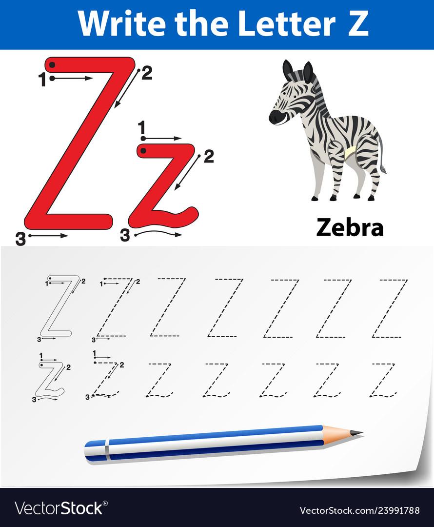 Letter Z Tracing Alphabet Worksheets intended for Tracing Letter Z Worksheets
