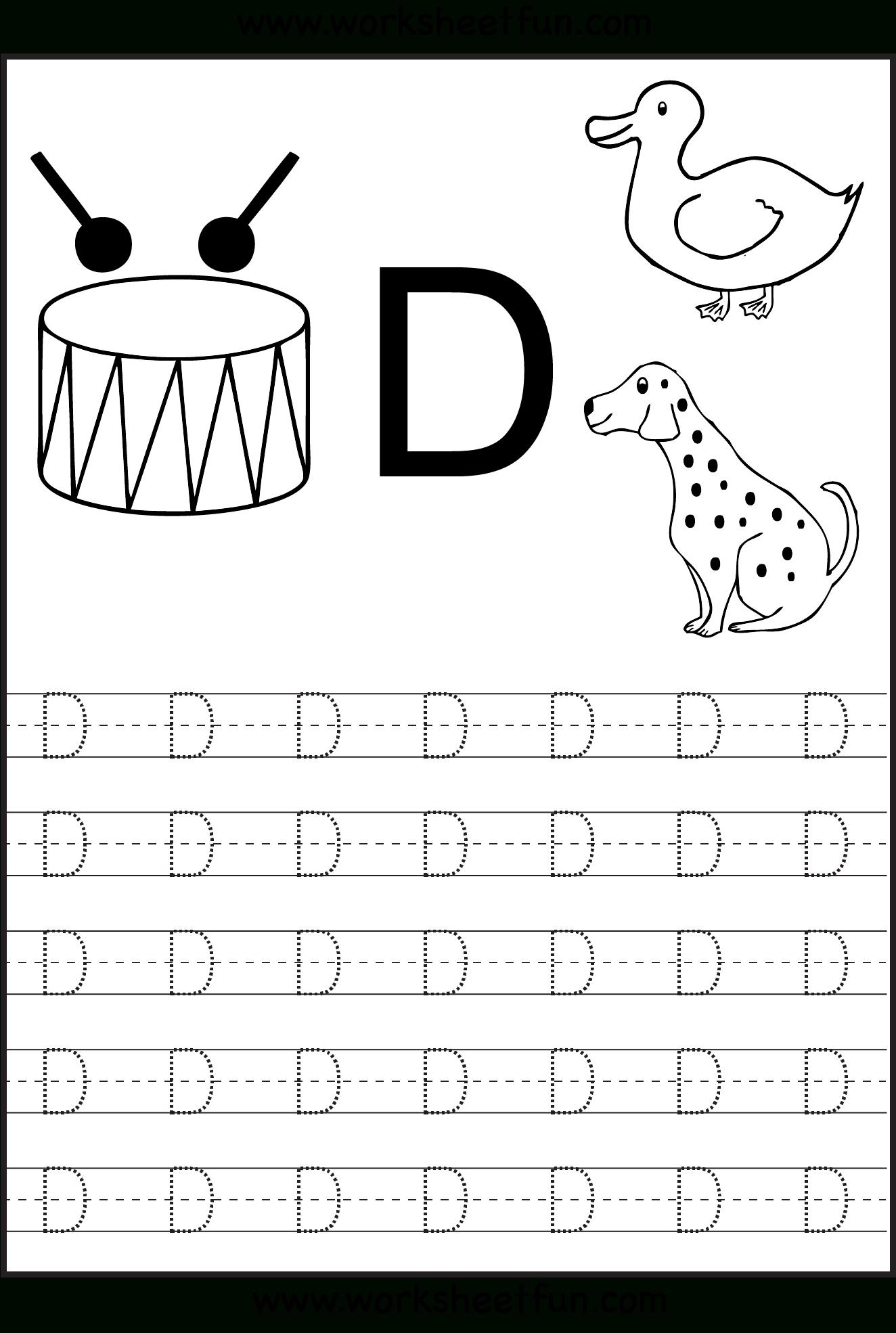 Letter+D+Tracing+Worksheets | Alphabet Worksheets, Letter D with Tracing Letter D Worksheets