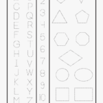 Letters Numbers & Shapes Tracing Worksheet - Printable Trace throughout Tracing Letters And Numbers Printable Worksheets