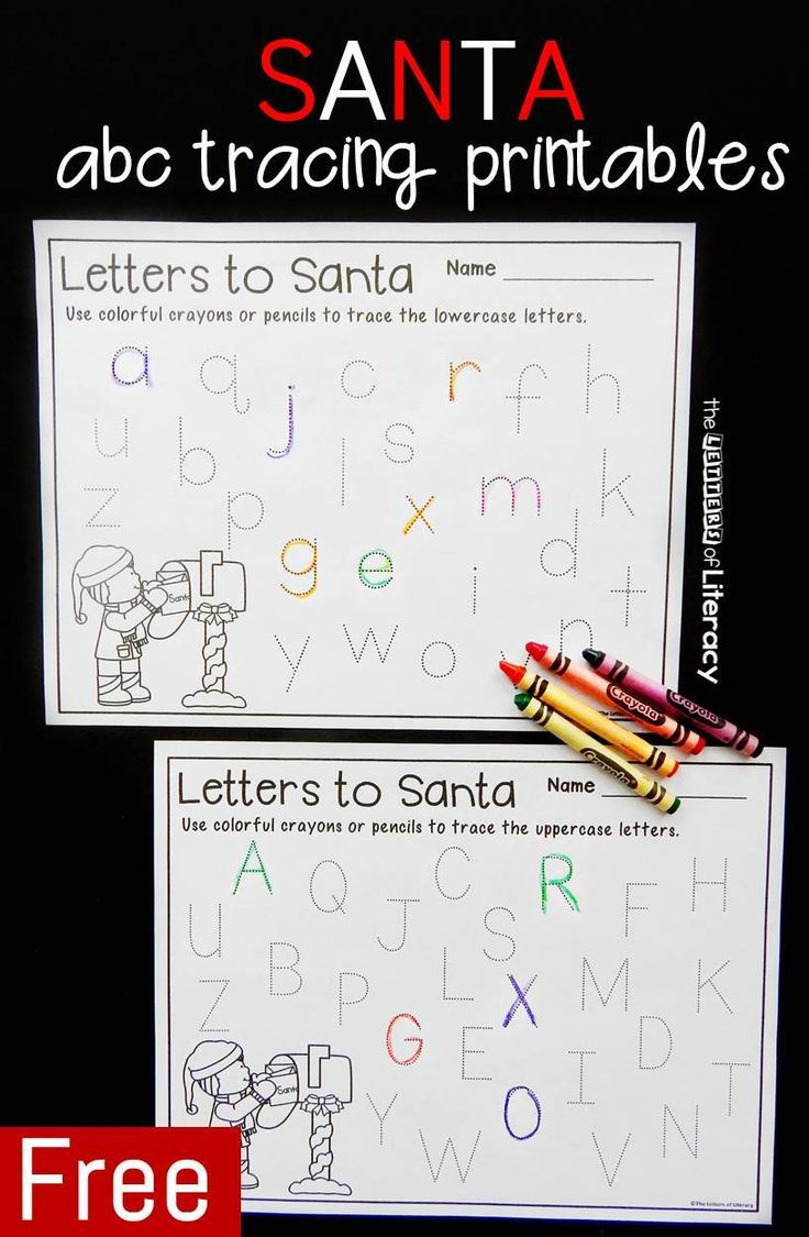 Letters To Santa Letter Tracing Printables | Tracing Letters within Christmas Tracing Letters