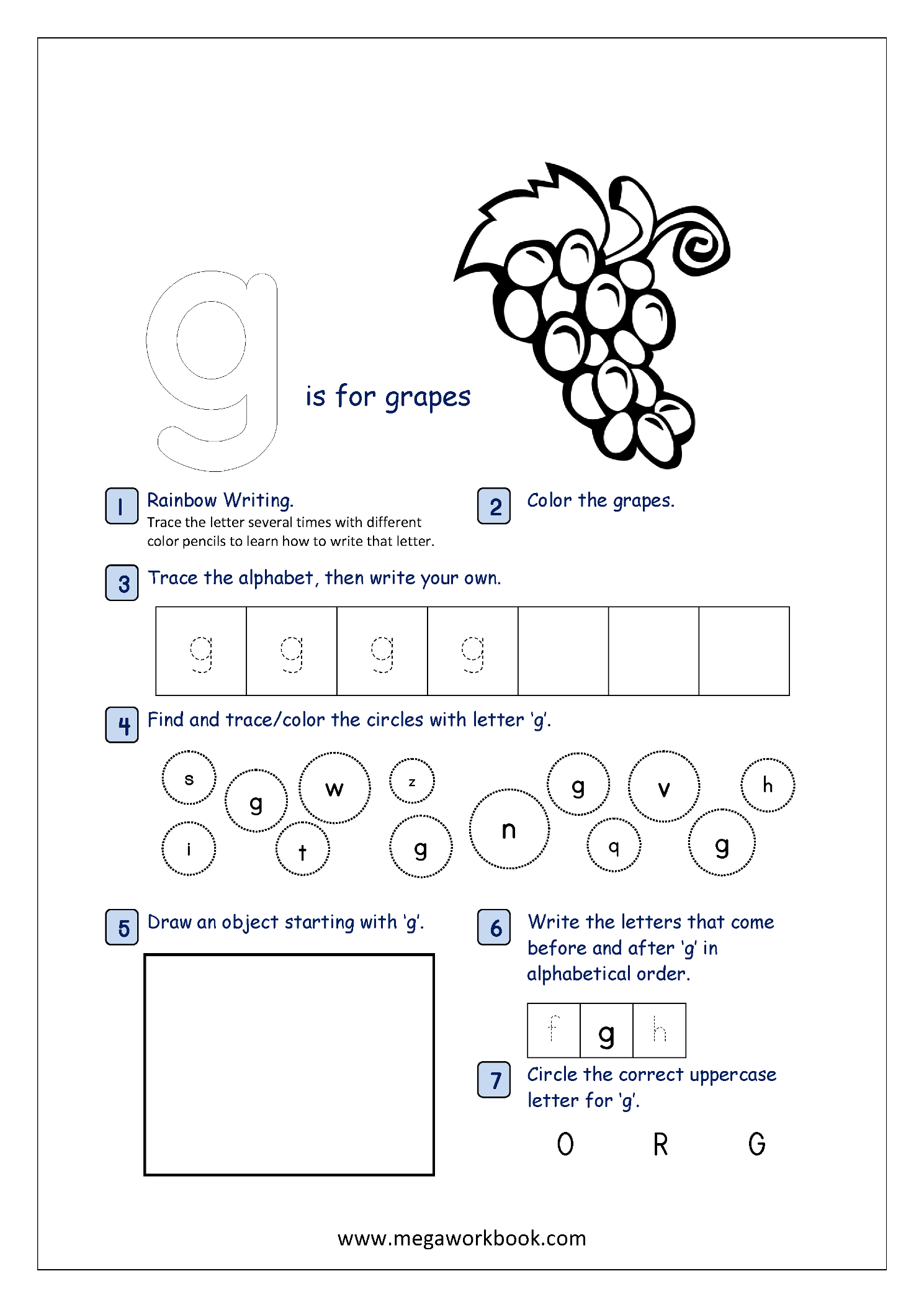 Lowercase Alphabet Recognition Activity Worksheet - Small for Tracing Small Letter G Worksheet