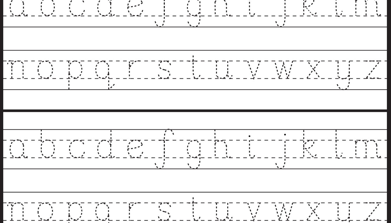 Lowercase Letter Tracing - 1 Worksheet | Letter Tracing for Lower Case Letters Tracing Sheets