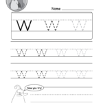 """Lowercase Letter """"w"""" Tracing Worksheet - Doozy Moo intended for Tracing Letter W Worksheets"""