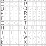 Make A Printable Alphabet Letter Tracing Worksheets | Letter throughout Free Printable Tracing Letters And Numbers Worksheets