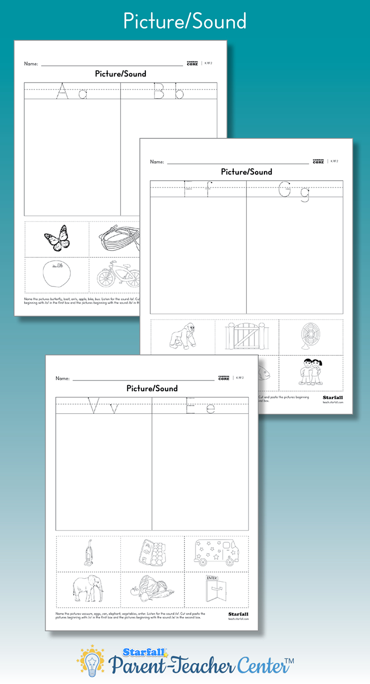 Match The Pictures To The Beginning Letter/sound regarding Tracing Letters Worksheets Generator